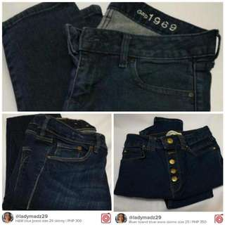 3 for P999 blue jeans GAP, H&M, River Island