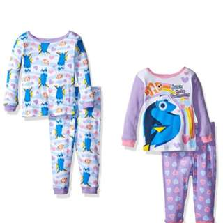 BNIP Disney Girls' Finding Dory Toddler 4-Piece Pajama Set