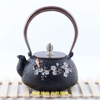 日本鐵壺 生鐵壺 鑄鐵壺 老鐵壺 燒水鐵茶壺 一壺一模 無塗層燒水壺煮茶壺 買就送黑檀壺夾