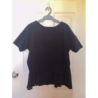 Black Peplum Style Shirt
