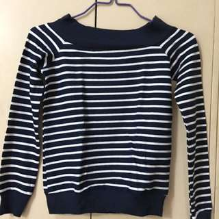 BERSHKA OFF-shoulder Sweater