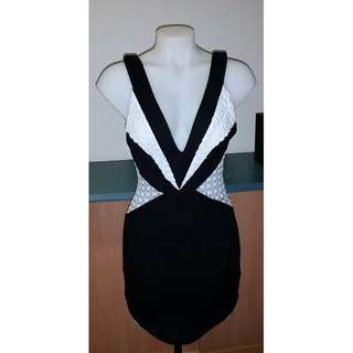 Black & White Party Dress