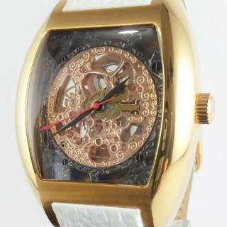 Steinhausen Automatic Skeleton White Strap Swiss Watch rolex omega rado seiko tissot longines casio