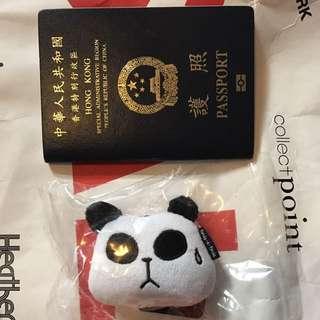 panda a panda 公仔吊飾
