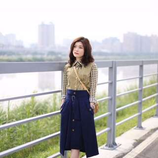 東區 Dresscode 雙層綁帶裙