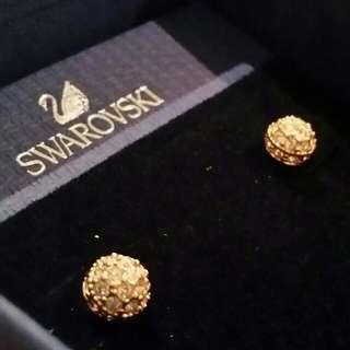 Genuine Swarovski Gold Earrings