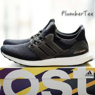 US10 UK9.5 EU44 Men Adidas Ultra Boost Core Black 3.0