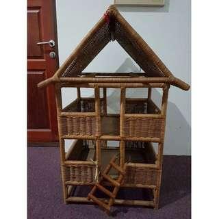 Rattan/wicker doll play house