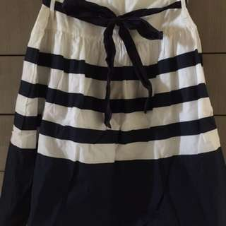 Emerson Navy & White Stripe Skirt