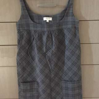 Grey Tartan Dress