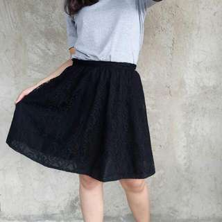 Black Brokat Skirt