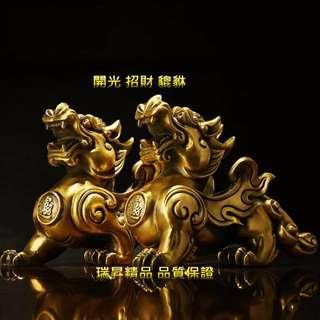 開光 開運 招財 貔貅  純銅 雕刻 開運擺件 雕刻工藝 銅雕