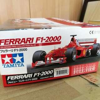 TAMIYA FERRARI F1-2000 FULL VIEW