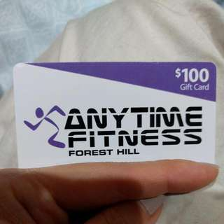 Anytime Fitness Gift Card $100