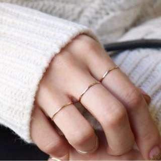 925純銀戒指 銀色/玫瑰金