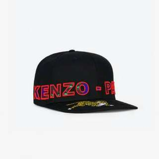 KENZO X H&M Men's Black Embroidered Cotton Cap