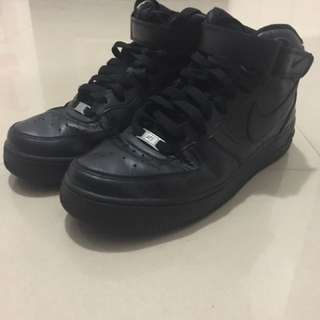 Nike Airforce Black 高筒