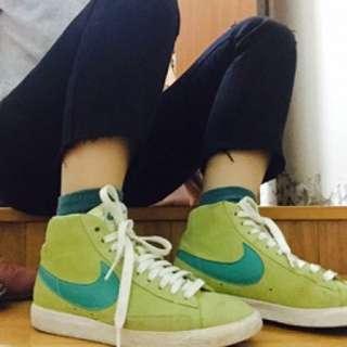 NIKE 綠色 高筒鞋 UK7
