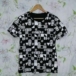 Patterned Black Shirt