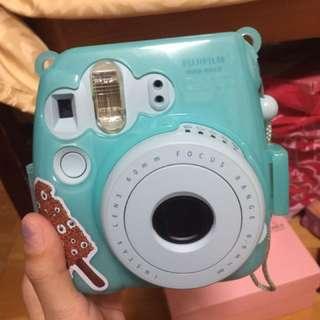 Mini8 水藍色拍立得 附三盒底片