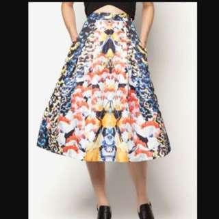 Love Bonito Covet Shailey Printed Flare Skirt