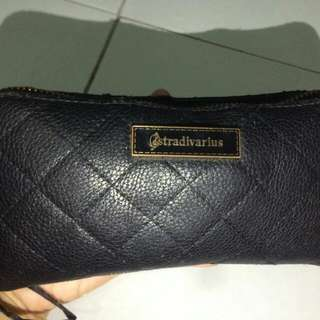 stradivarius black wallet