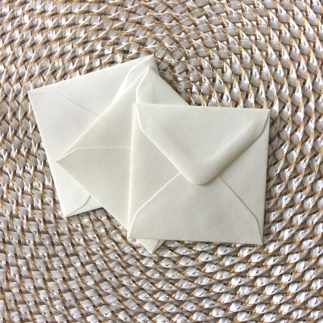 25 Pack Of Cute 71mm Square Ivory Envelopes