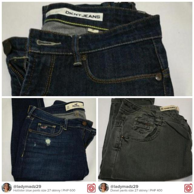 3 for P999 jeans DKNY, Diesel & Hollister