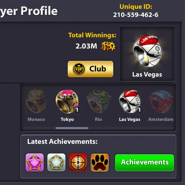 8 Ball Pool Account, Toys & Games, Video Gaming, Gaming