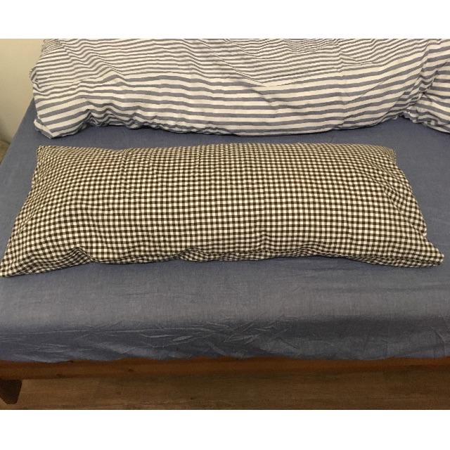 ... 無印良品羽毛枕(含枕套) (寬100的長枕頭) ...