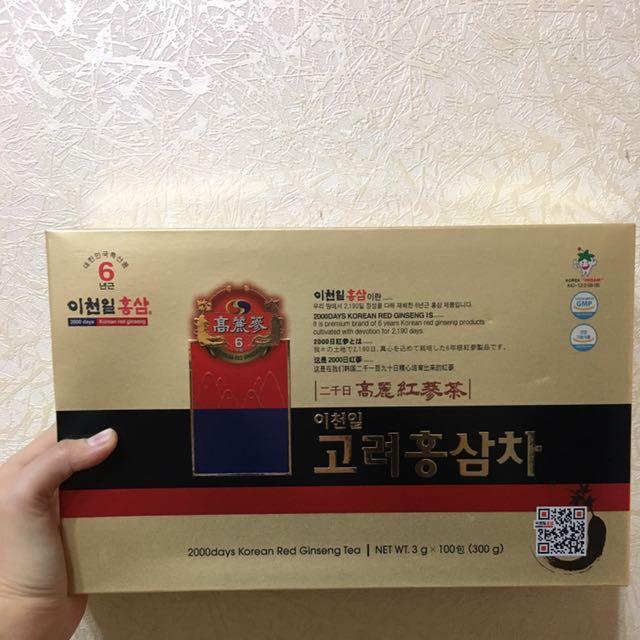 好市多 韓國高研頂級六年根高麗紅蔘茶 降!
