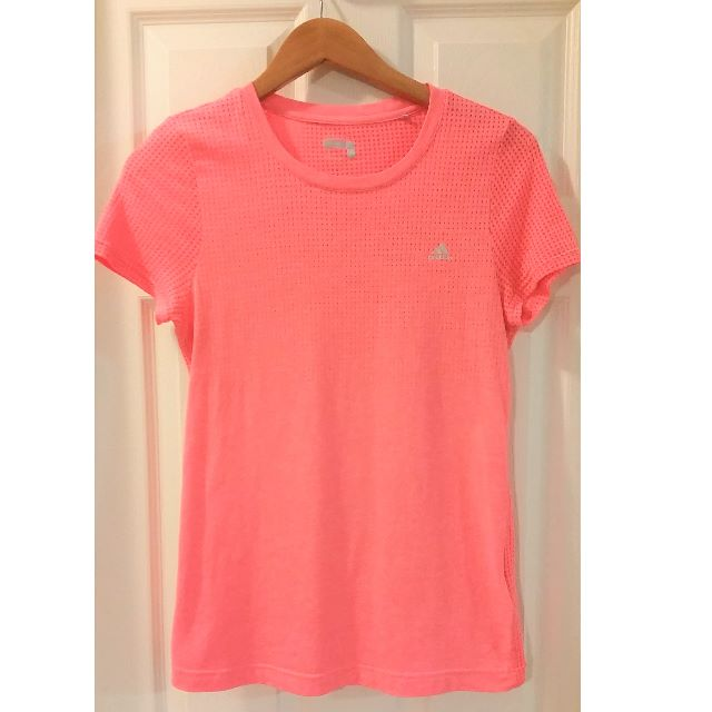 ADIDAS Climalite Running T-Shirt Pink Size Small