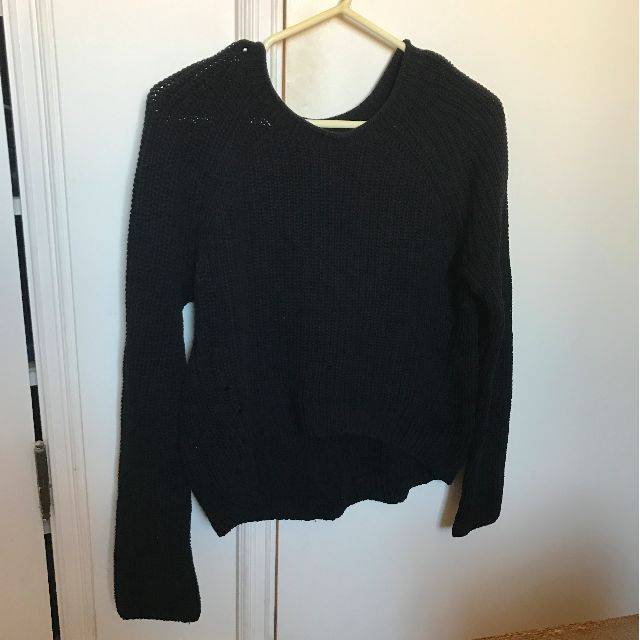 Armani Exchange black knit jumper