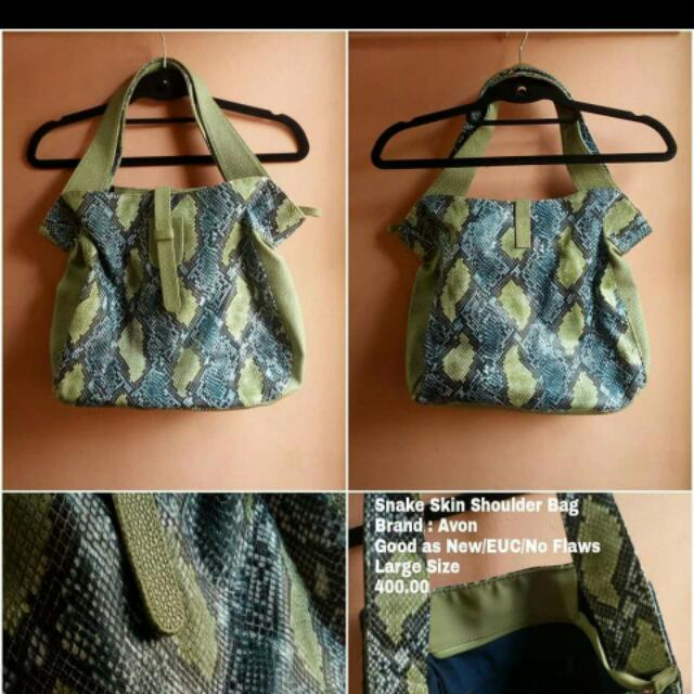 Avon Snake Skin Bag