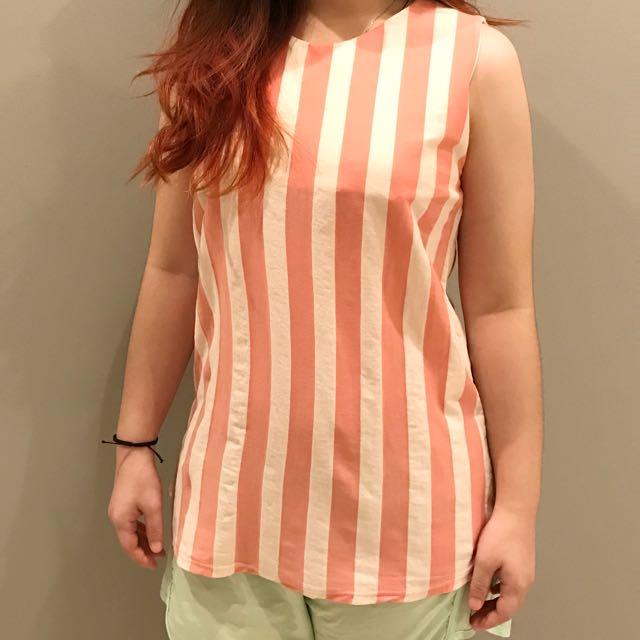 Baju Wanita Pink Strip