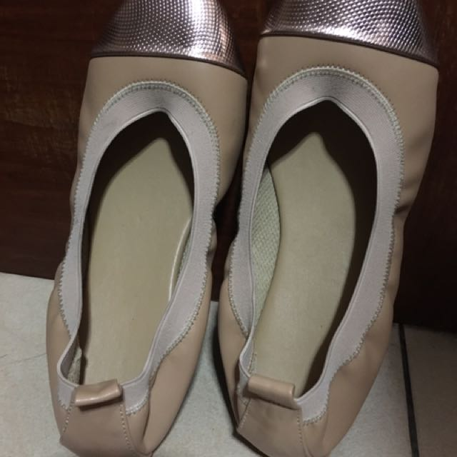 Beige Comfy Shoes(Garterized)