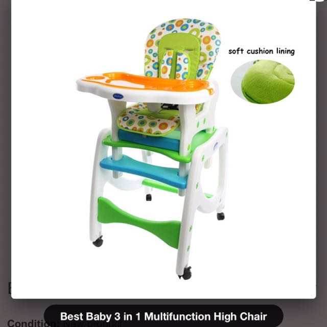 Best Baby 3 In 1 Multifunction Highchair