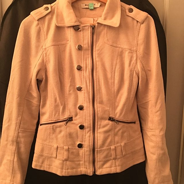Blockout Jacket, Size 10, Pale Pink