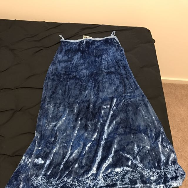 Blue Rayon Skirt