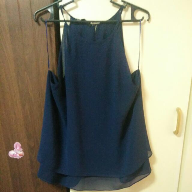 BLUE SEXY ELEGANT BLOUSE XL