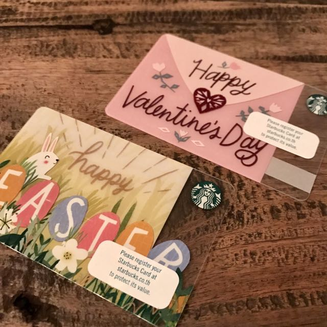 Bn limited edition starbucks thailand valentine easter cards photo photo photo negle Gallery
