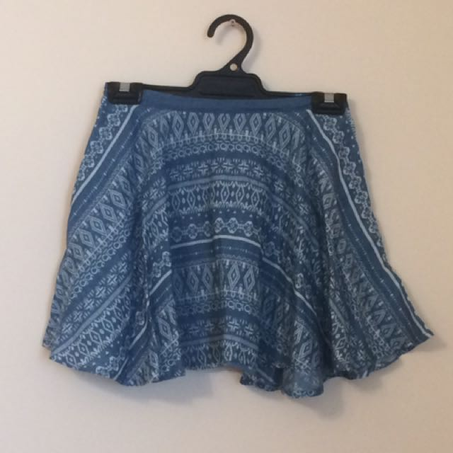BNWOT Blue Mini Skirt