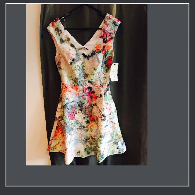 BNWT - Floral Mini Flowy Zara Dress - S - 6-8