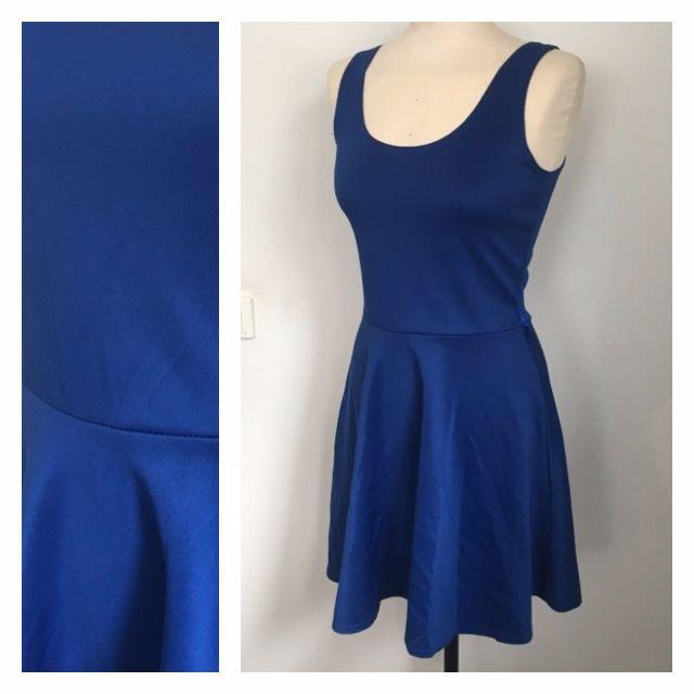 Boohoo Blue Flare Dress (Size 10)