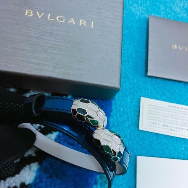 Bvlgari 蛇頭雙圈手環