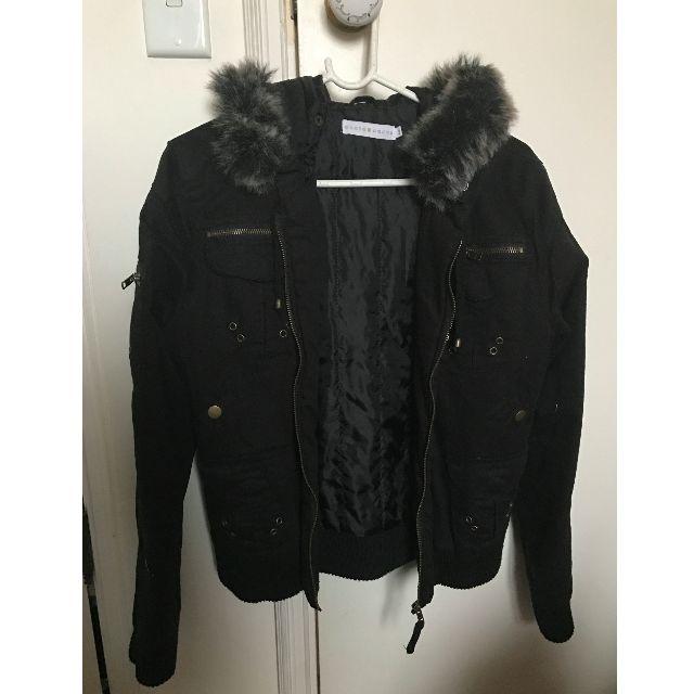 Cache cache black bomber jacket