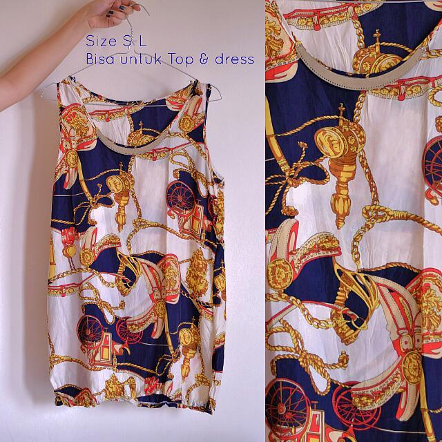 Channel/Hermes Motif Tank Top/dress