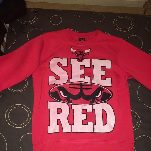 Chicago Bulls Jumper (not Authentic) Size L