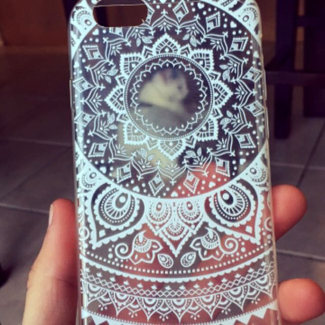 Clear Mandala Phone Case