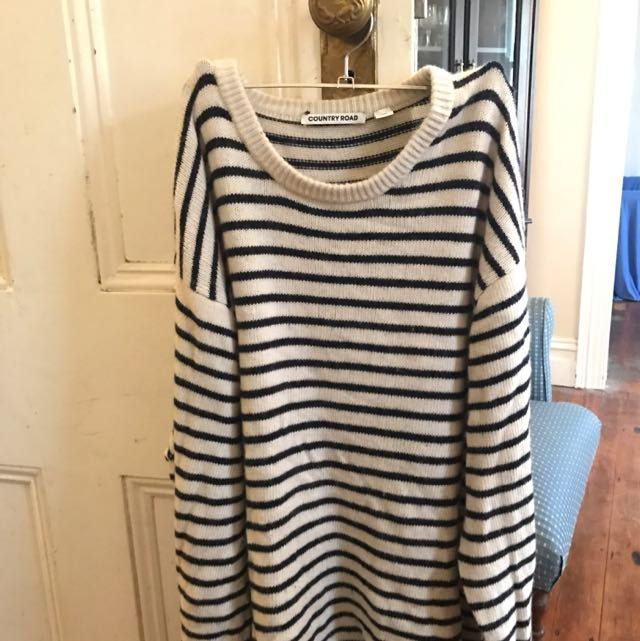 Country Road Striped Sweater